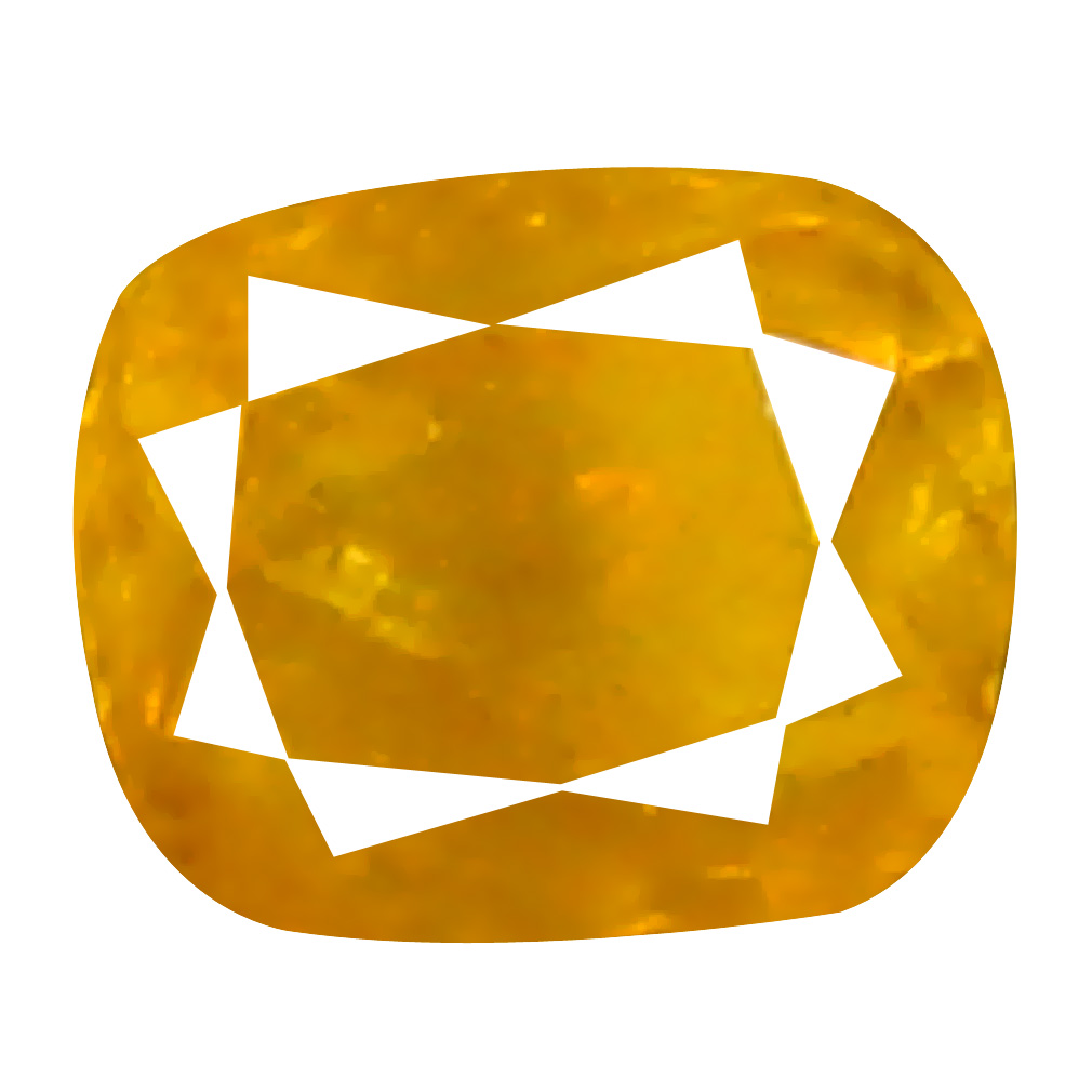 0.09 ct Fair Cushion Cut (3 x 2 mm) 100% Natural (Un-Heated) Orange Yellow Diamond Natural Gemstone