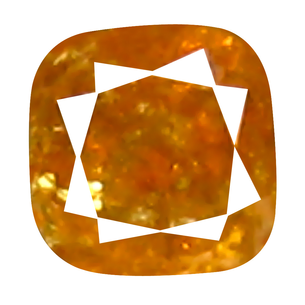 0.08 ct Sparkling Cushion Cut (2 x 2 mm) 100% Natural (Un-Heated) Orange Yellow Diamond Natural Gemstone