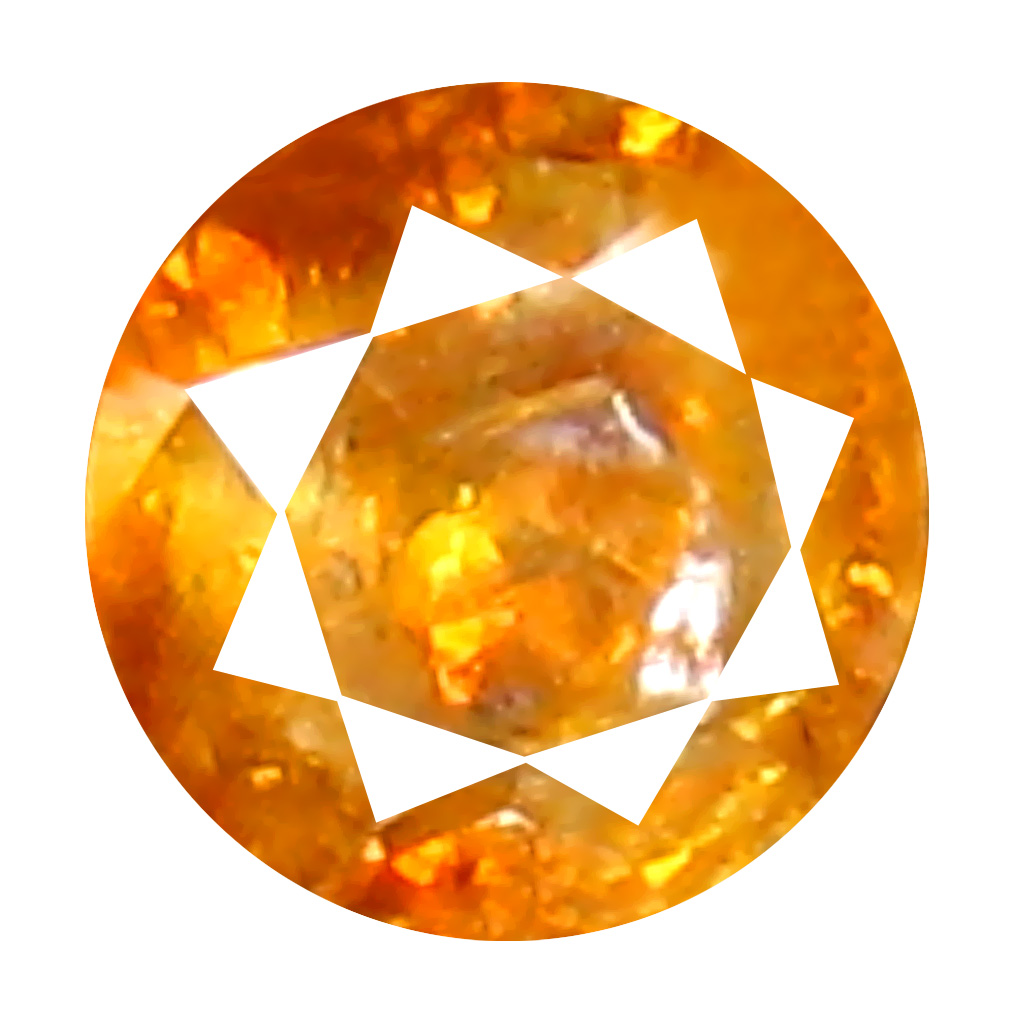 0.11 ct Elegant Round Cut (3 x 3 mm) 100% Natural (Un-Heated) Orange Yellow Diamond Natural Gemstone