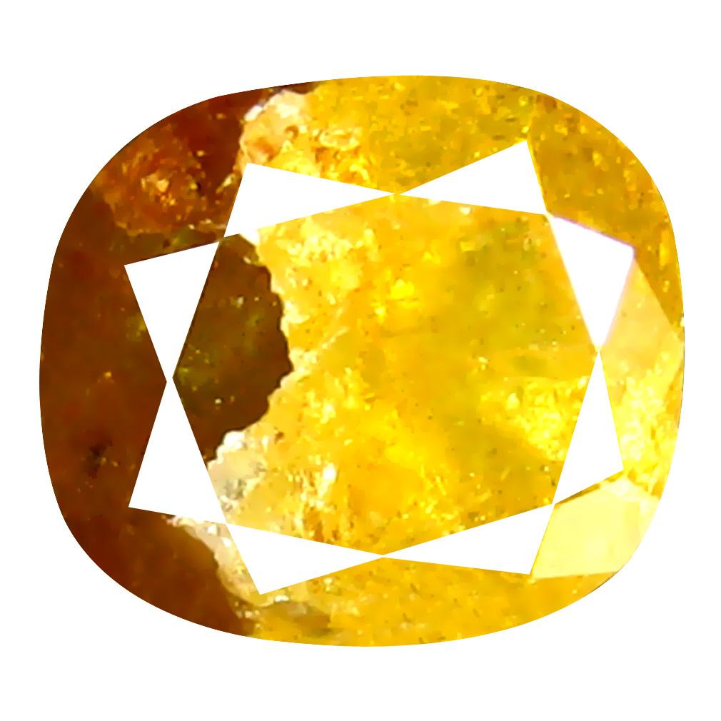 1.65 ct Flashing Cushion Cut (6 x 6 mm) 100% Natural (Un-Heated) Fancy Yellow Diamond Natural Gemstone