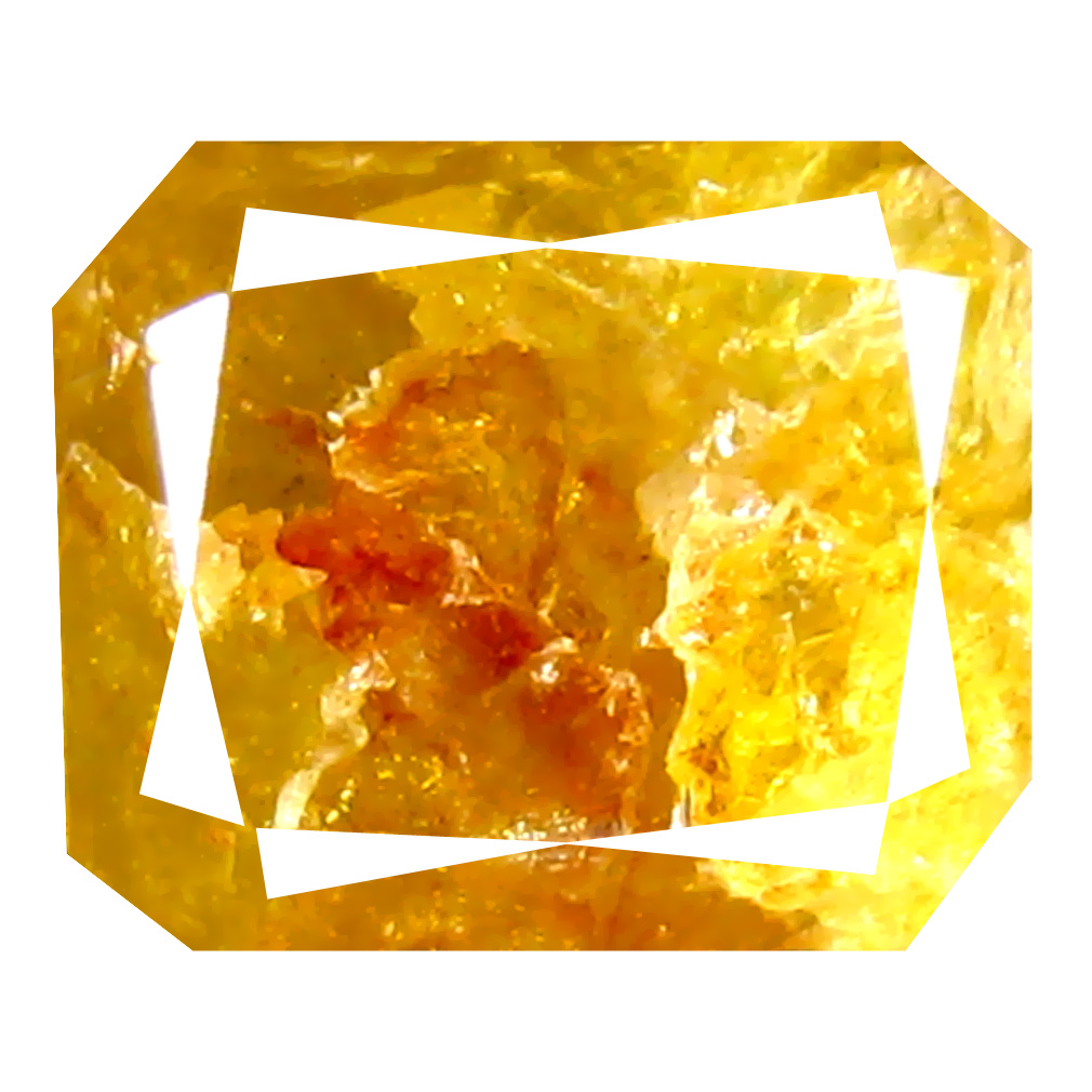 2.00 ct Excellent Octagon Cut (7 x 6 mm) 100% Natural (Un-Heated) Fancy Yellow Diamond Natural Gemstone