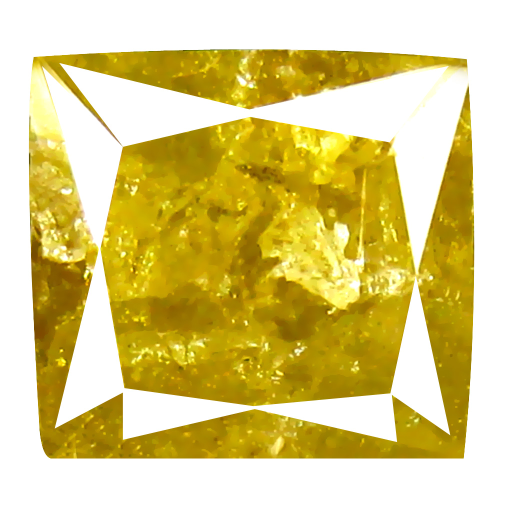 3.29 ct Five-star Princess Cut (8 x 7 mm) 100% Natural (Un-Heated) Fancy Yellow Diamond Natural Gemstone