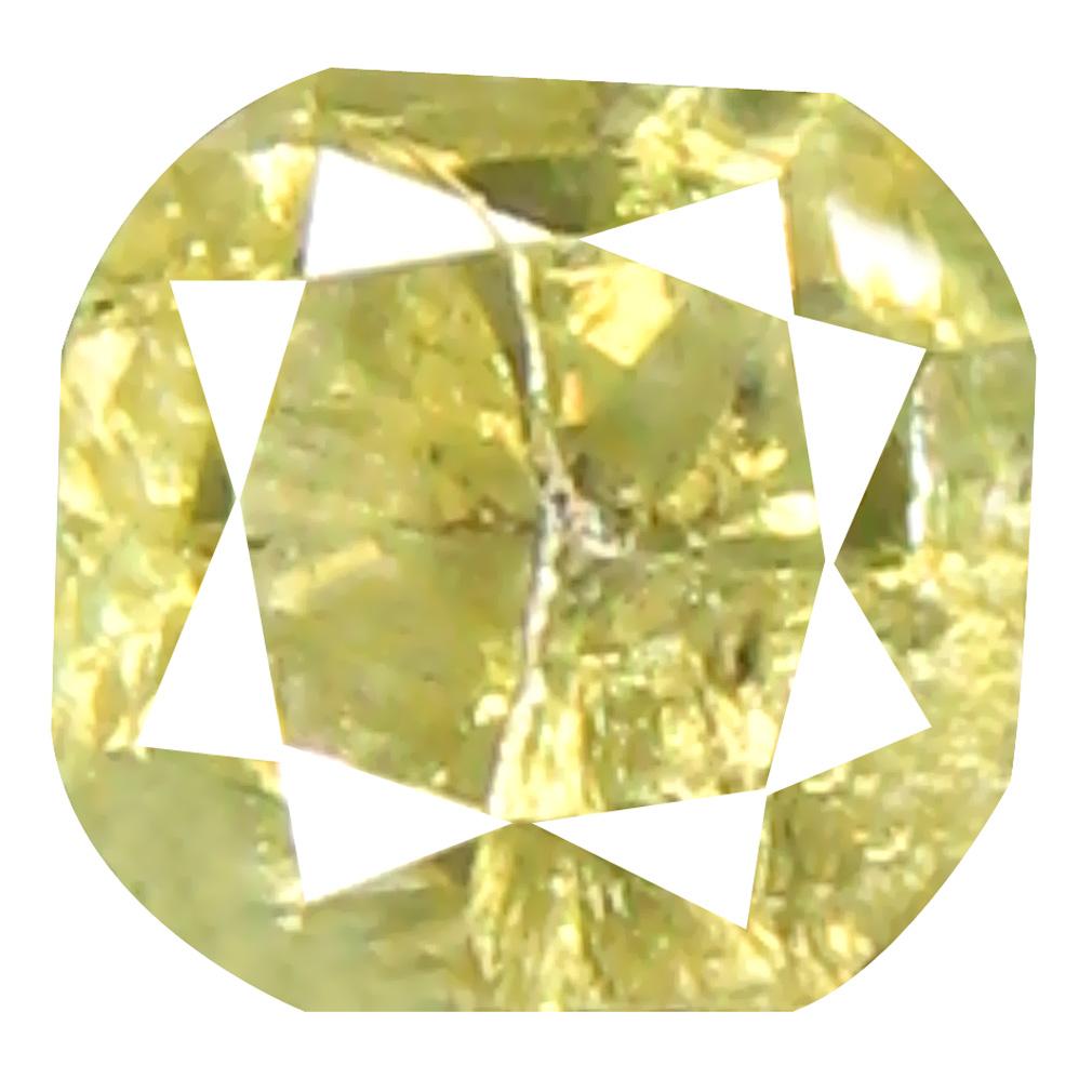 0.43 ct Wonderful Cushion Cut (4 x 4 mm) 100% Natural (Un-Heated) Fancy Yellow Diamond Natural Gemstone