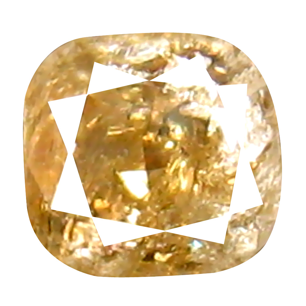 0.42 ct Sparkling Cushion Cut (4 x 4 mm) 100% Natural (Un-Heated) Fancy Brown Diamond Natural Gemstone