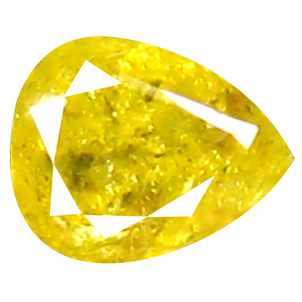 0.25 ct Stunning Pear Cut (4 x 4 mm) 100% Natural (Un-Heated) Fancy Yellow Diamond Natural Gemstone