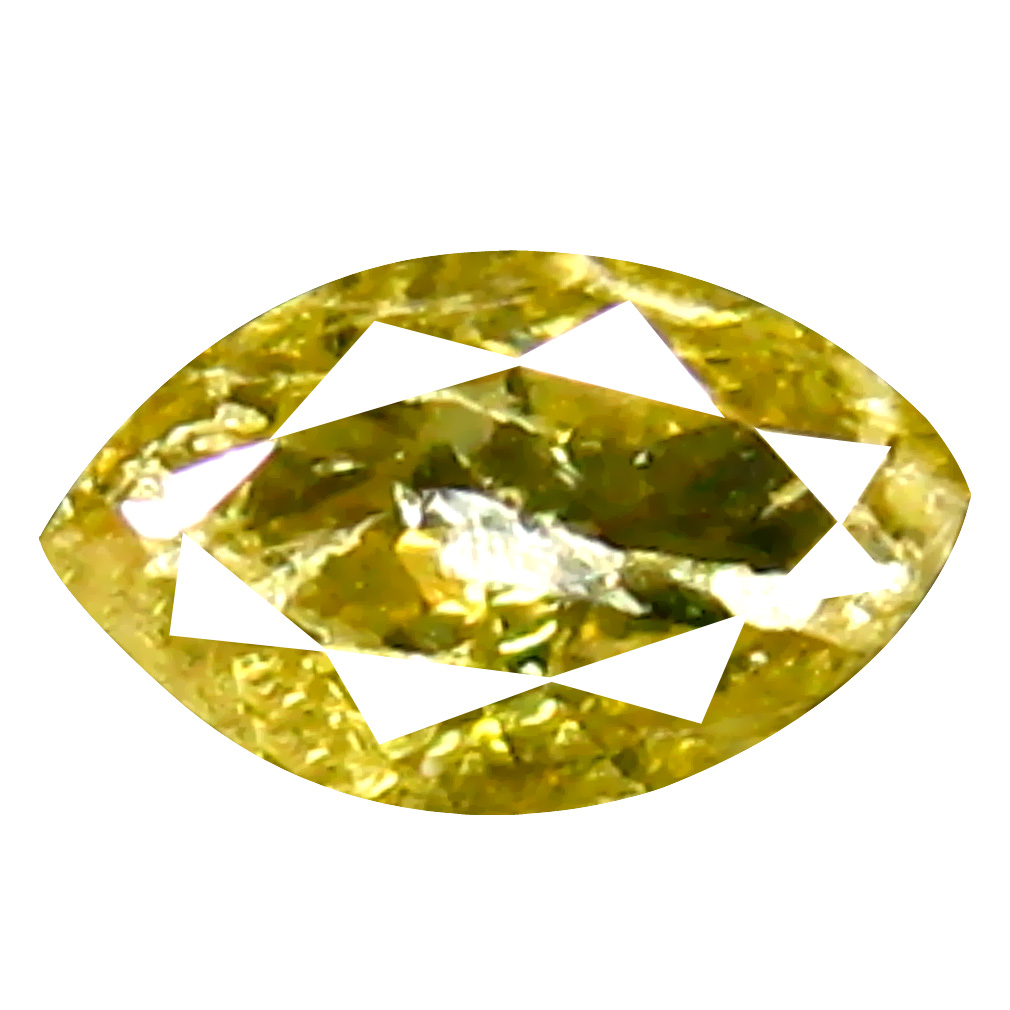 0.28 ct Supreme Marquise Cut (6 x 3 mm) 100% Natural (Un-Heated) Fancy Yellow Diamond Natural Gemstone