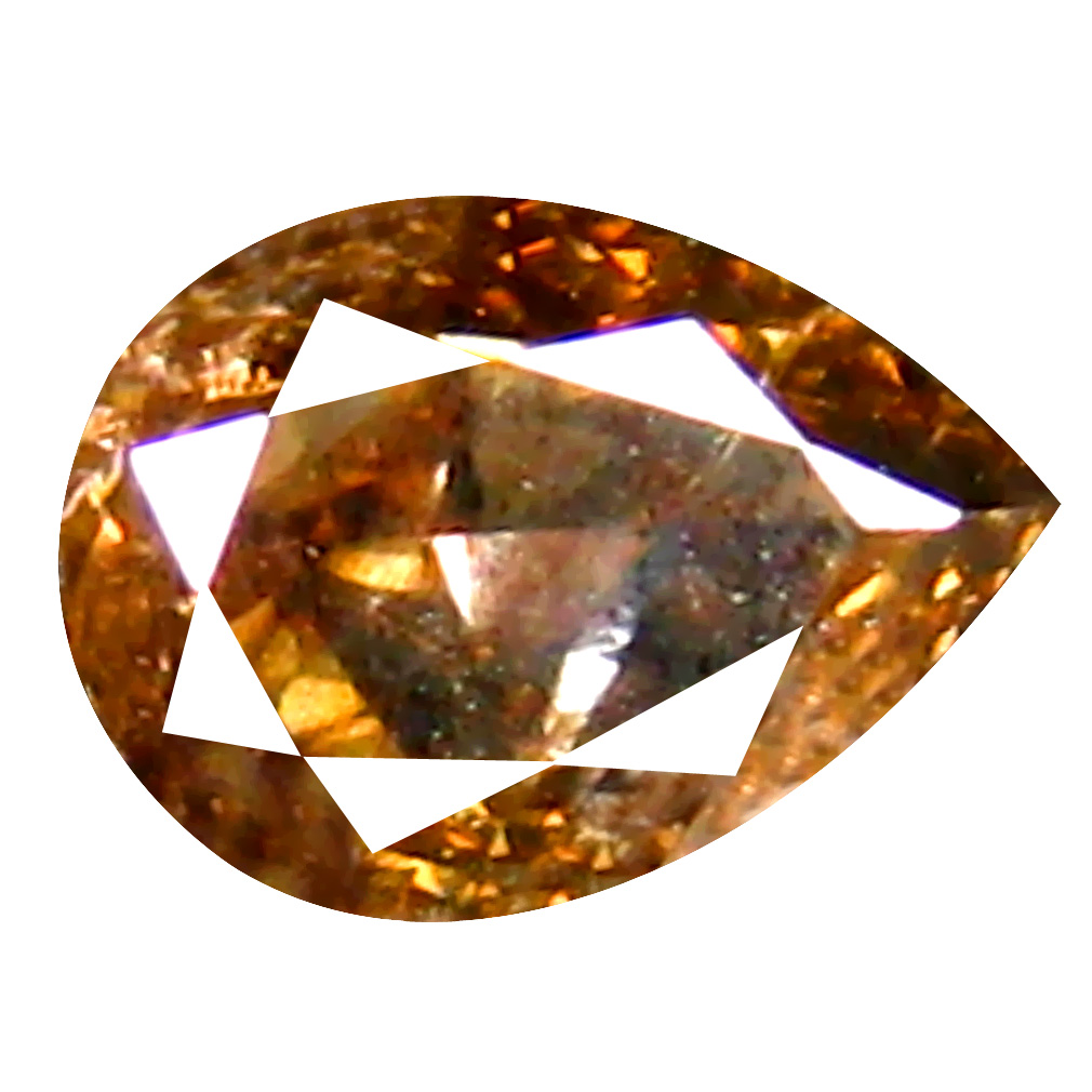 0.28 ct Romantic Pear Cut (5 x 3 mm) 100% Natural (Un-Heated) Golden Brown Diamond Natural Gemstone
