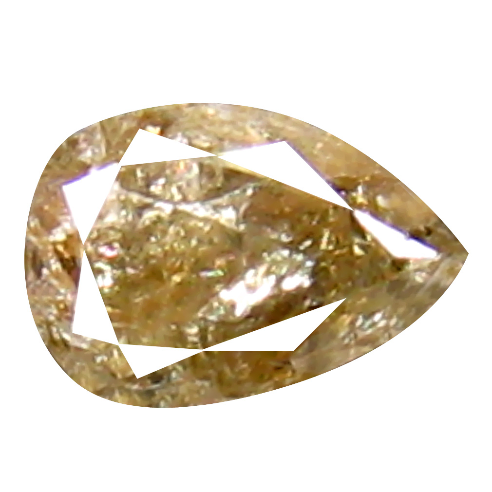 0.22 ct Eye-popping Pear Cut (4 x 3 mm) 100% Natural (Un-Heated) Fancy Yellow Diamond Natural Gemstone