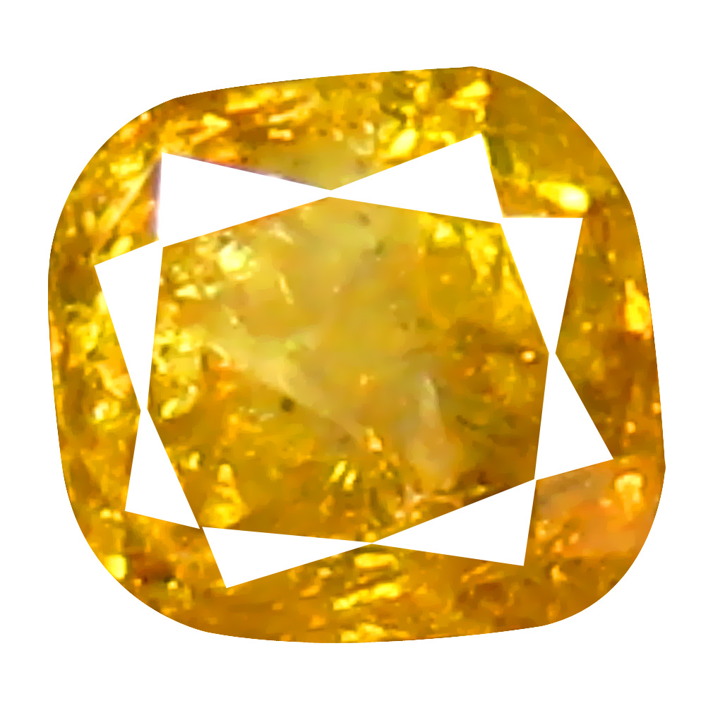 0.24 ct Awe-inspiring Cushion Cut (3 x 3 mm) 100% Natural (Un-Heated) Fancy Yellow Diamond Natural Gemstone