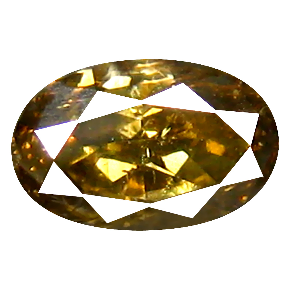 0.42 ct Fair Oval Cut (5 x 3 mm) 100% Natural (Un-Heated) Fancy Yellow Diamond Natural Gemstone