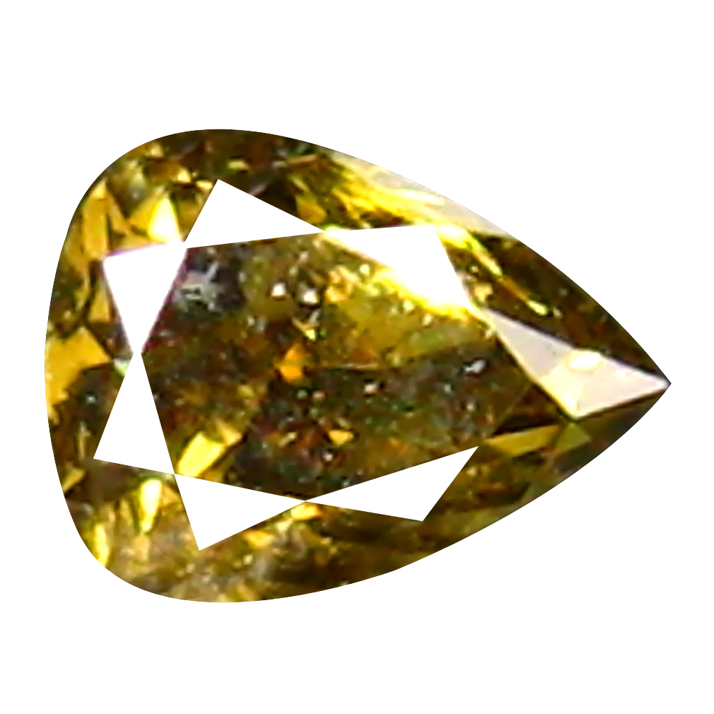 0.06 ct Supreme Pear Cut (3 x 2 mm) 100% Natural (Un-Heated) Fancy Yellowish Green Diamond Natural Gemstone