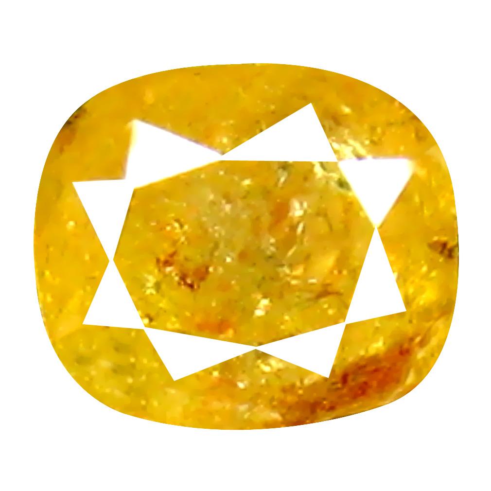 0.33 ct Mind-Boggling Cushion Cut (4 x 3 mm) 100% Natural (Un-Heated) Fancy Yellow Diamond Natural Gemstone