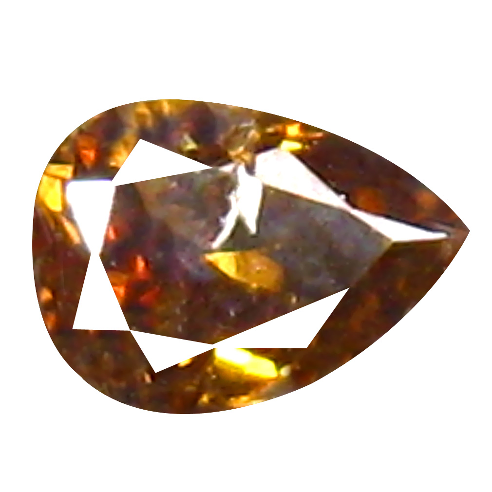 0.13 ct Awe-inspiring Pear Cut (4 x 3 mm) 100% Natural (Un-Heated) Fancy Brown Diamond Natural Gemstone
