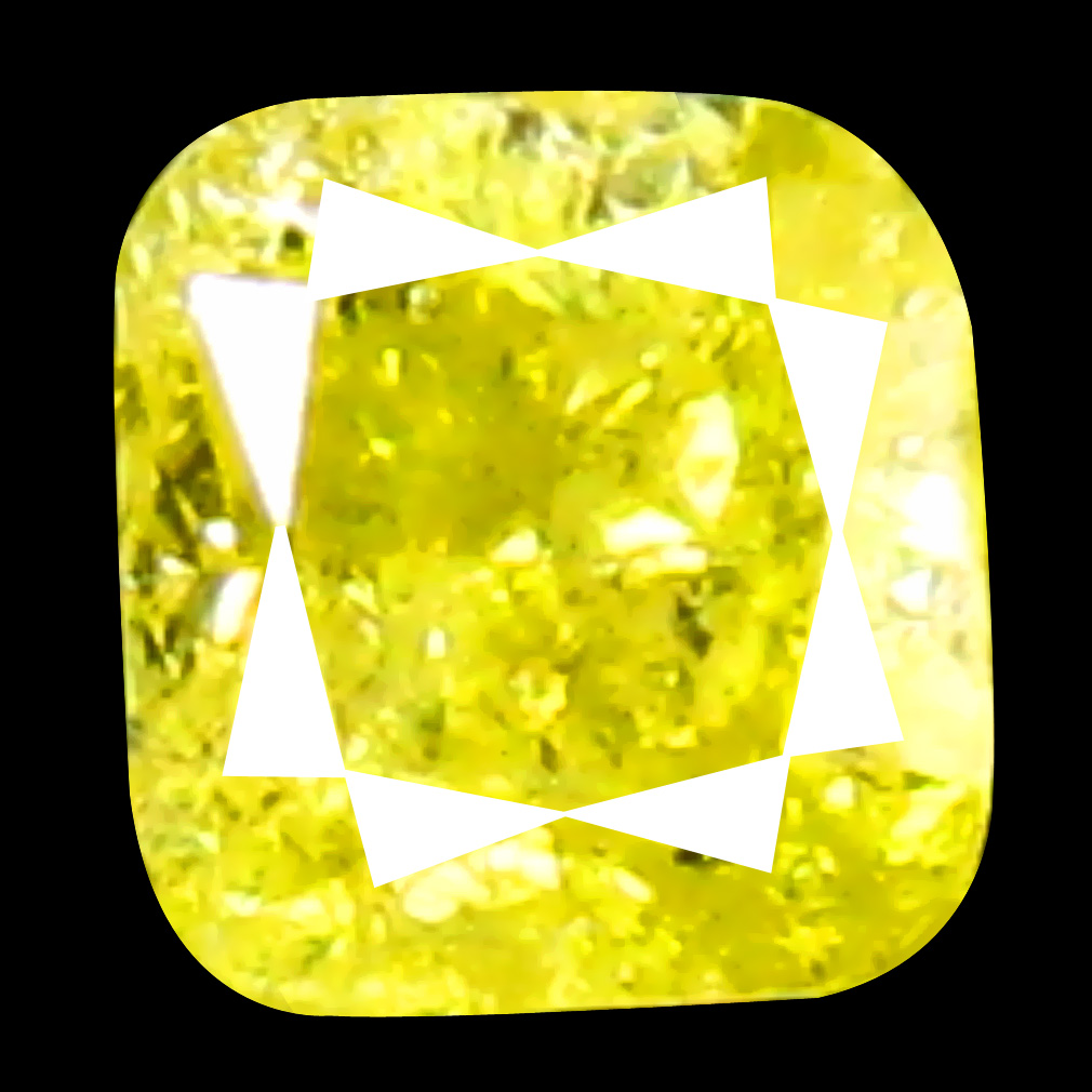 0.14 ct Amazing Cushion Cut (3 x 3 mm) 100% Natural (Un-Heated) Fancy Yellow Diamond Natural Gemstone