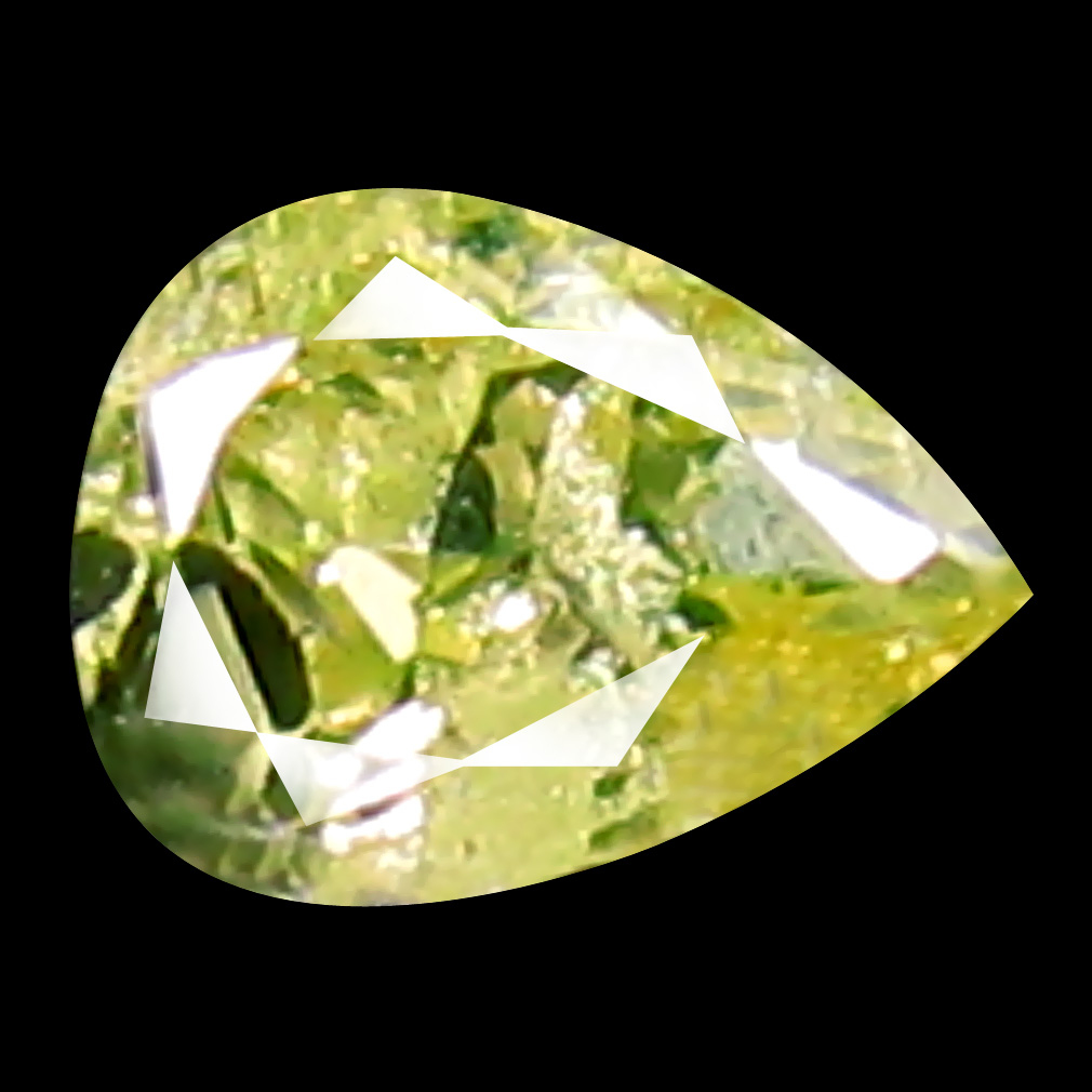 0.08 ct Remarkable Pear Cut (3 x 3 mm) 100% Natural (Un-Heated) Fancy Yellow Diamond Natural Gemstone