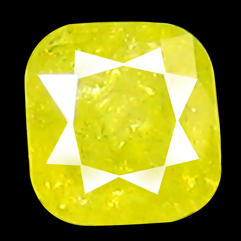 0.11 ct Magnificent Cushion Cut (3 x 3 mm) 100% Natural (Un-Heated) Fancy Yellow Diamond Natural Gemstone