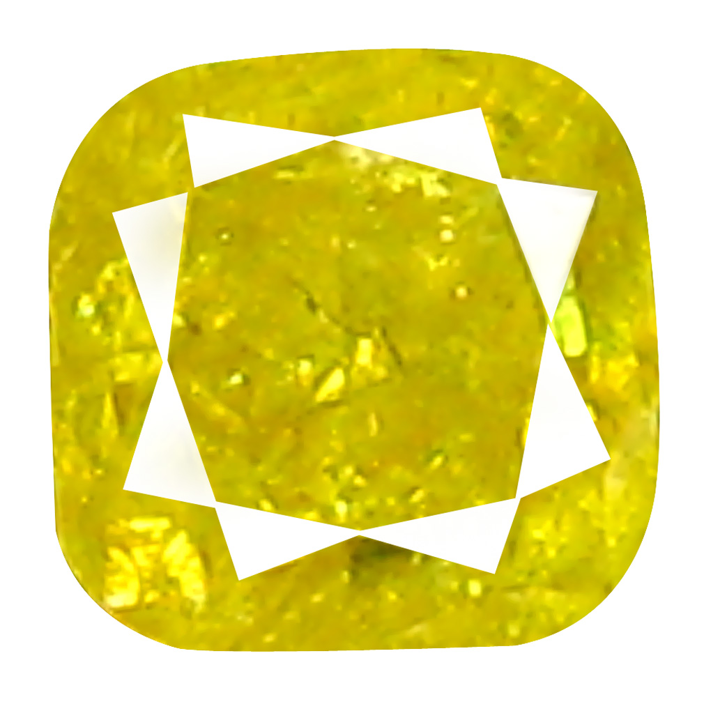 0.13 ct World class Cushion Cut (3 x 3 mm) 100% Natural (Un-Heated) Fancy Yellow Diamond Natural Gemstone