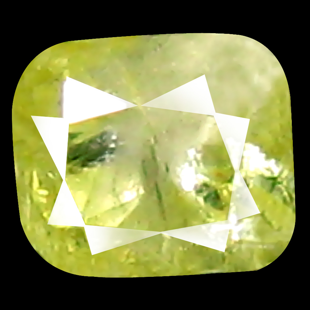 0.12 ct Unbelievable Cushion Cut (3 x 2 mm) 100% Natural (Un-Heated) Fancy Green Diamond Natural Gemstone