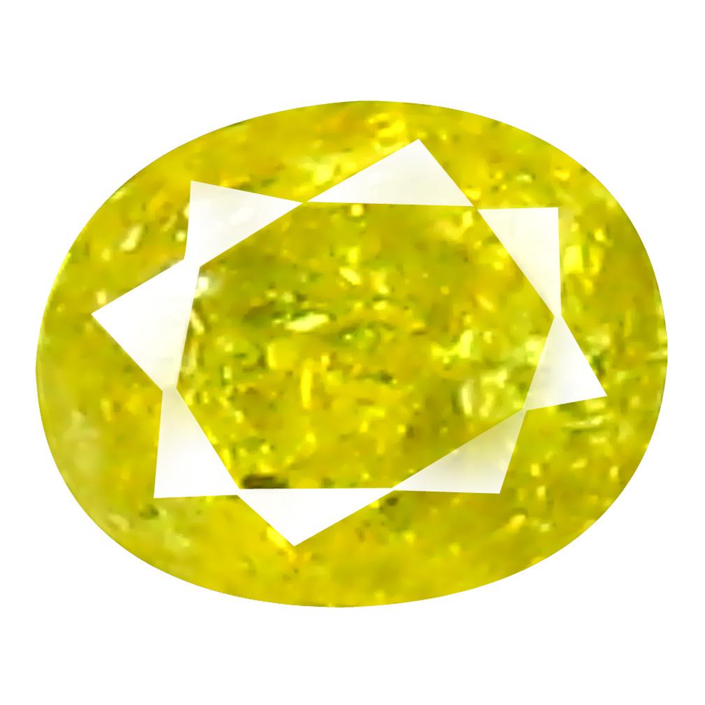 0.09 ct Romantic Oval Cut (3 x 2 mm) 100% Natural (Un-Heated) Fancy Yellow Diamond Natural Gemstone