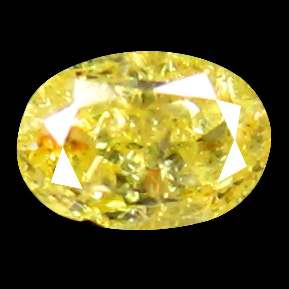 0.07 ct Extraordinary Oval Cut (3 x 2 mm) 100% Natural (Un-Heated) Fancy Yellow Diamond Natural Gemstone