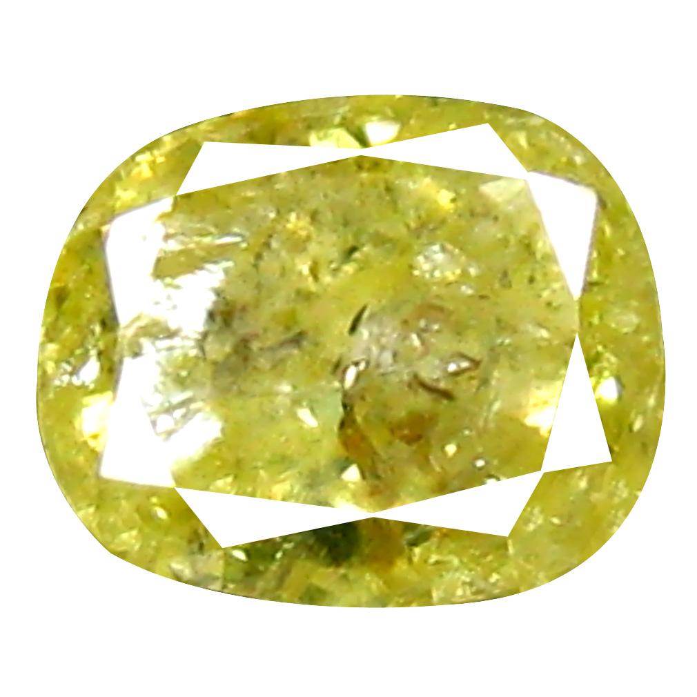 0.39 ct Valuable Cushion Cut (4 x 4 mm) 100% Natural (Un-Heated) Fancy Yellow Diamond Natural Gemstone