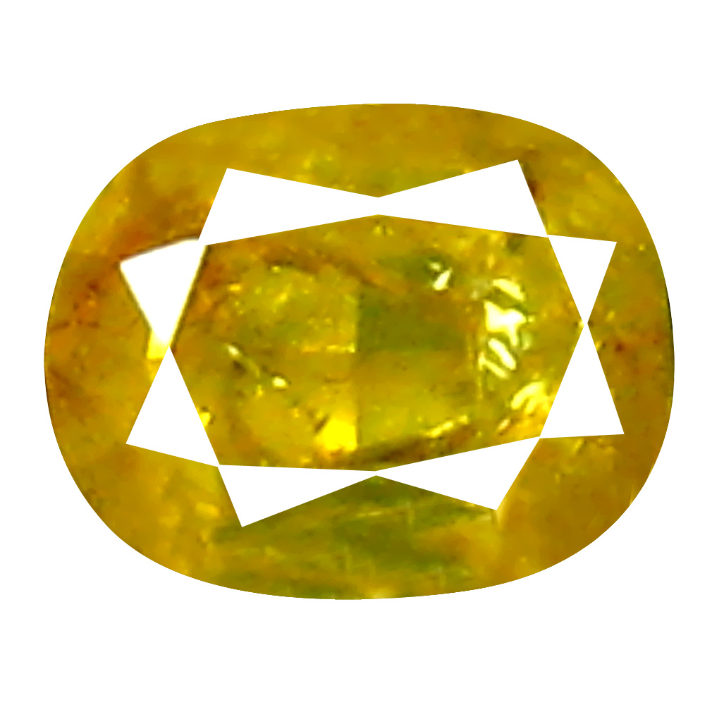 0.16 ct Excellent Cushion Cut (3 x 3 mm) 100% Natural (Un-Heated) Fancy Yellow Diamond Natural Gemstone