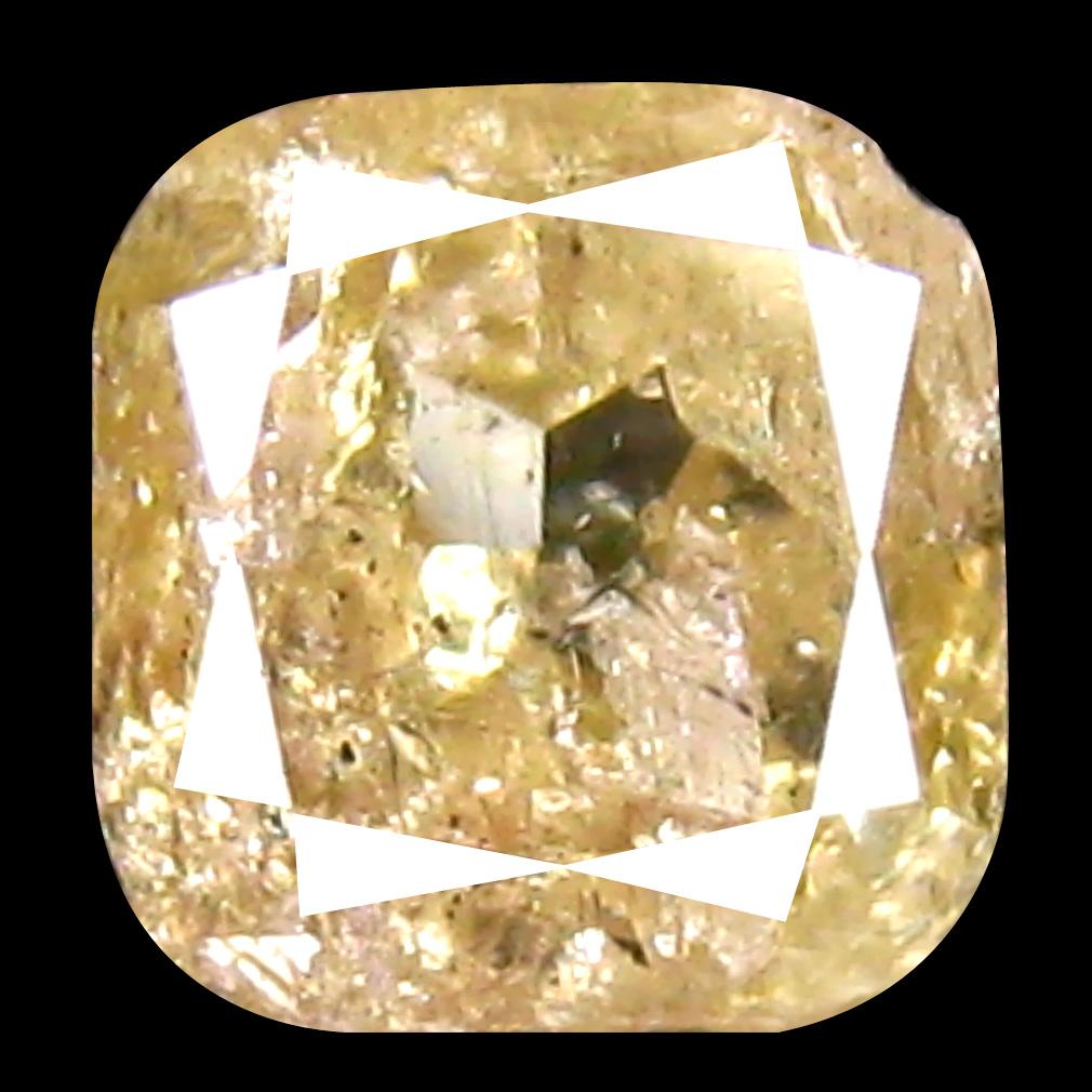 0.72 ct Remarkable Cushion Cut (5 x 5 mm) 100% Natural (Un-Heated) Fancy Light Yellow Diamond Natural Gemstone