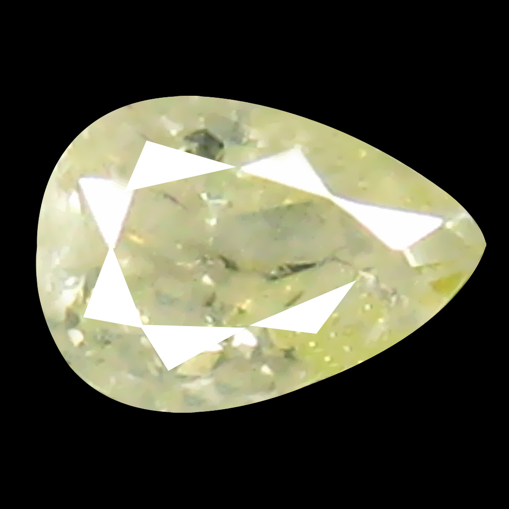 0.10 ct World class Pear Cut (3 x 2 mm) 100% Natural (Un-Heated) Fancy Light Yellow Diamond Natural Gemstone