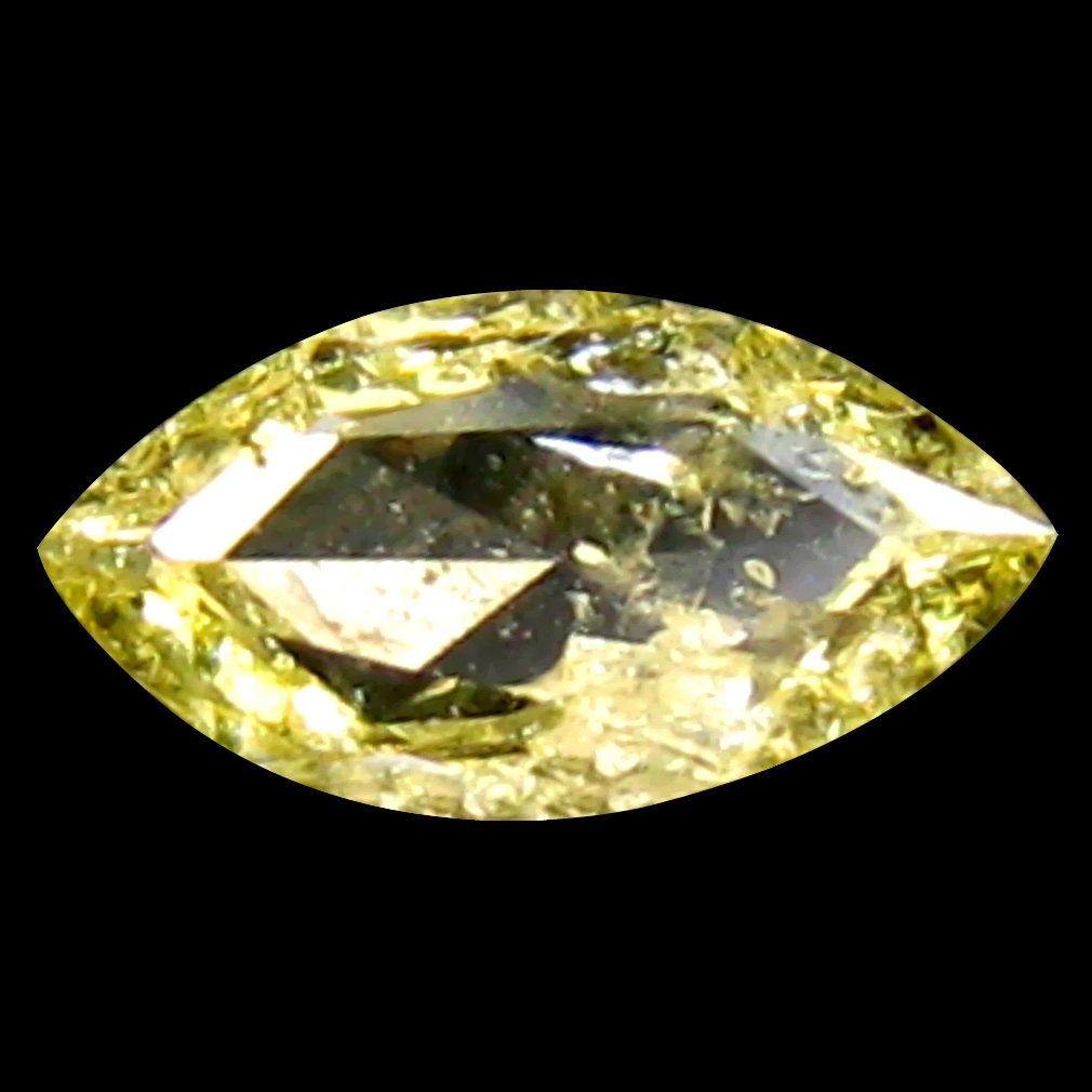 0.13 ct Magnificent fire Marquise Cut (5 x 3 mm) 100% Natural (Un-Heated) Fancy Yellow Diamond Natural Gemstone