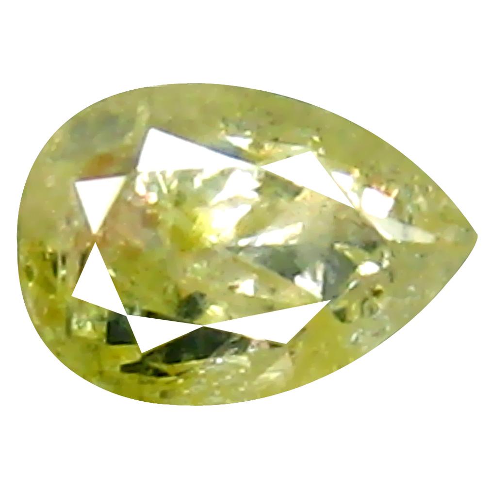 0.30 ct Fantastic Pear Cut (5 x 3 mm) 100% Natural (Un-Heated) Fancy Yellow Diamond Natural Gemstone