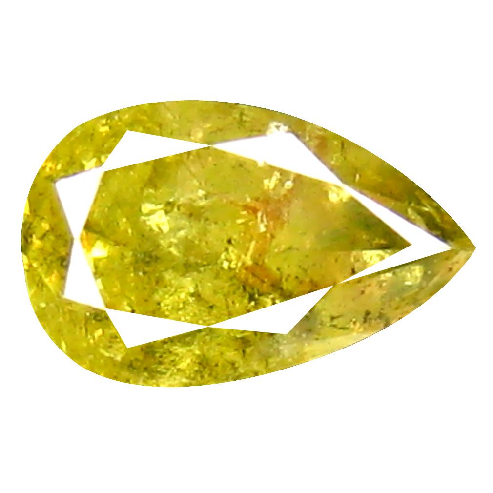 0.35 ct Topnotch Pear Cut (5 x 3 mm) 100% Natural (Un-Heated) Fancy Yellow Diamond Natural Gemstone