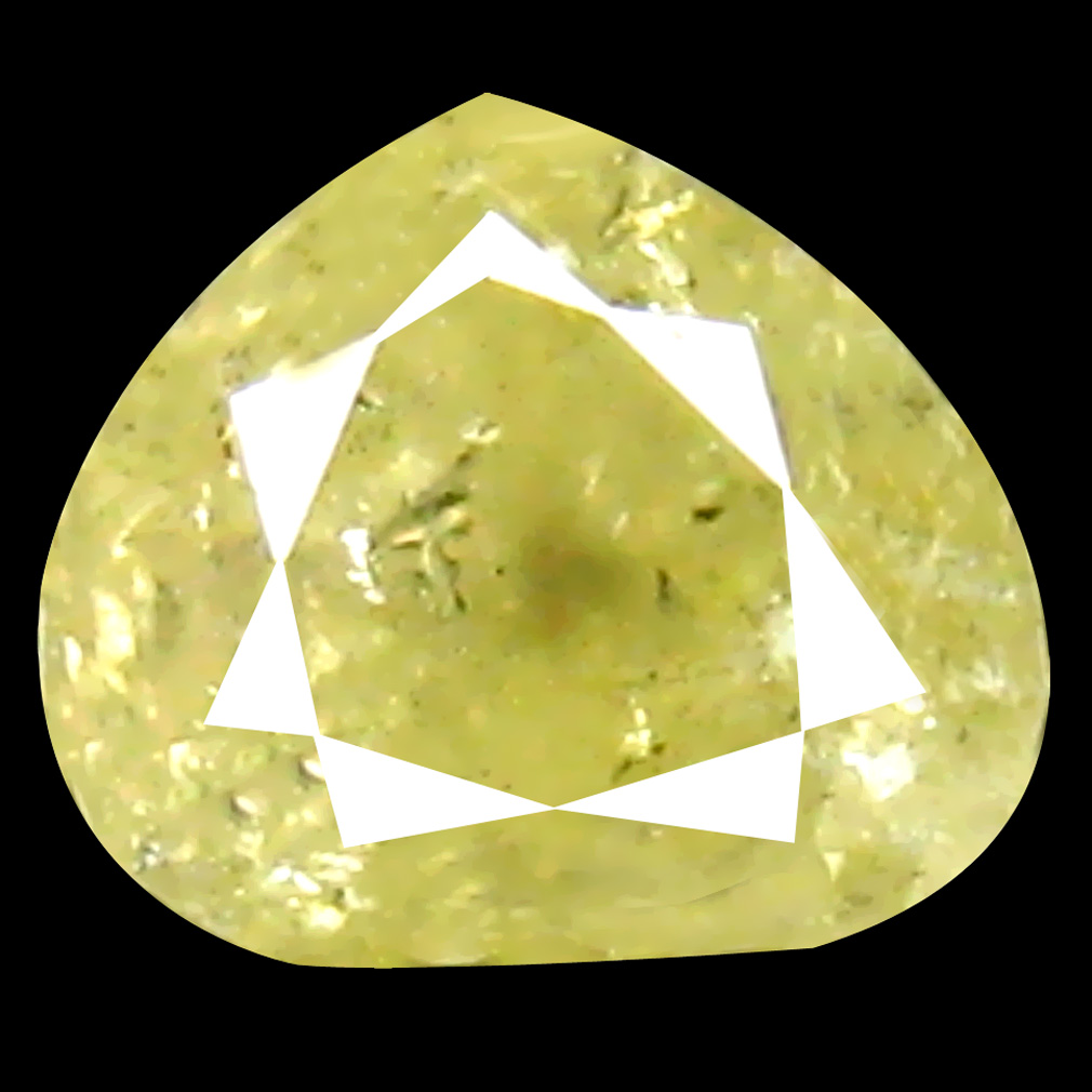 0.43 ct Incomparable Pear Cut (4 x 4 mm) 100% Natural (Un-Heated) Fancy Yellow Diamond Natural Gemstone