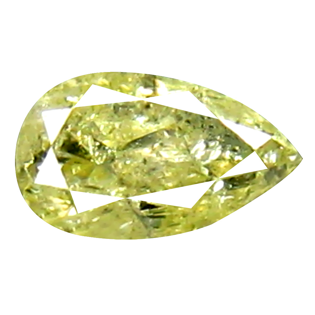 0.11 ct Magnificent fire Pear Cut (4 x 2 mm) 100% Natural (Un-Heated) Fancy Yellow Diamond Natural Gemstone