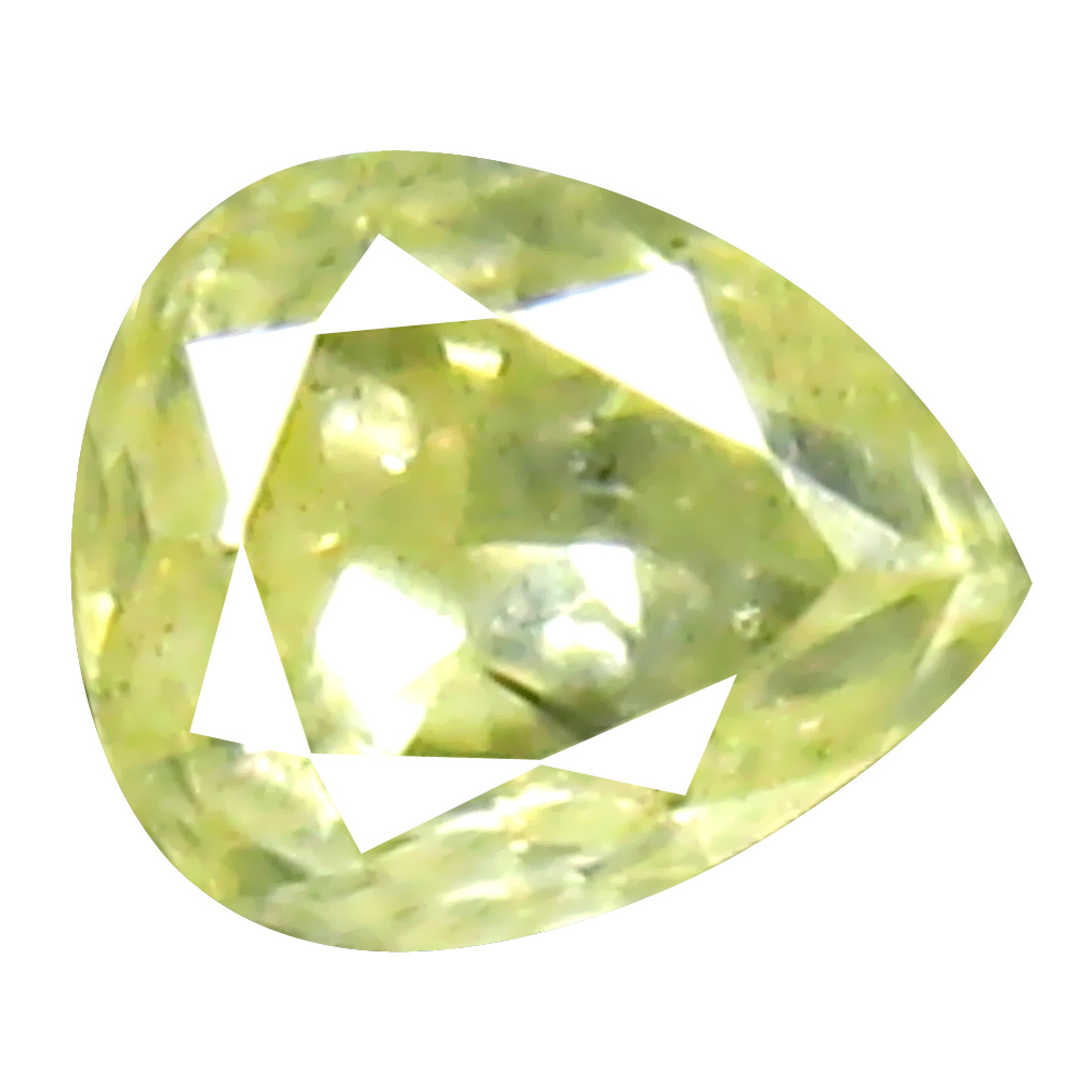 0.10 ct Fair Pear Cut (3 x 3 mm) 100% Natural (Un-Heated) Fancy Yellow Diamond Natural Gemstone