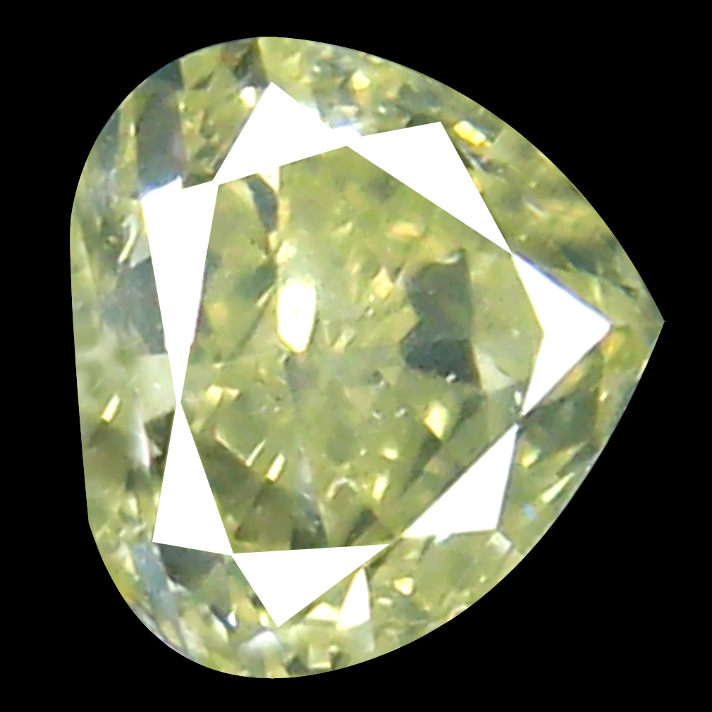 0.36 ct Eye-opening Pear Cut (4 x 4 mm) 100% Natural (Un-Heated) Fancy Yellow Diamond Natural Gemstone