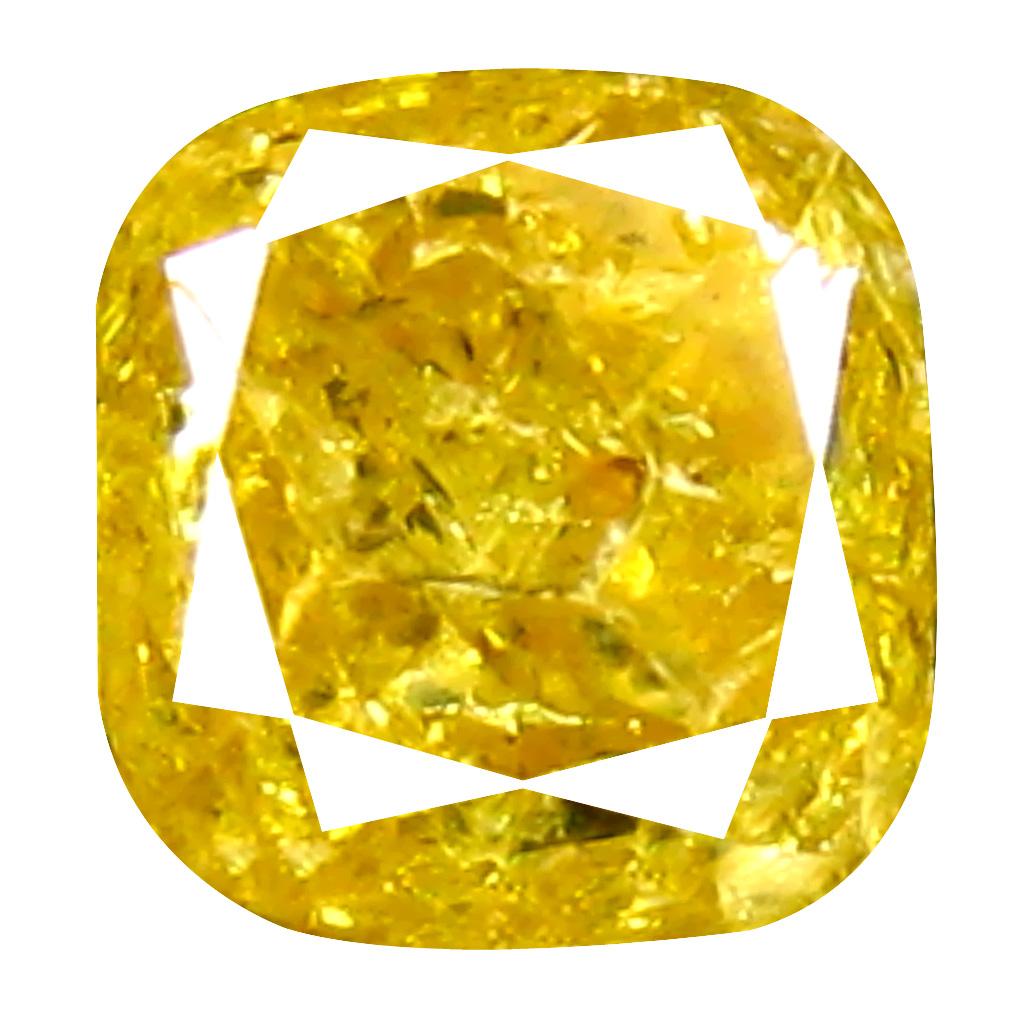 0.34 ct Fabulous Cushion Cut (4 x 4 mm) 100% Natural (Un-Heated) Fancy Yellow Diamond Natural Gemstone