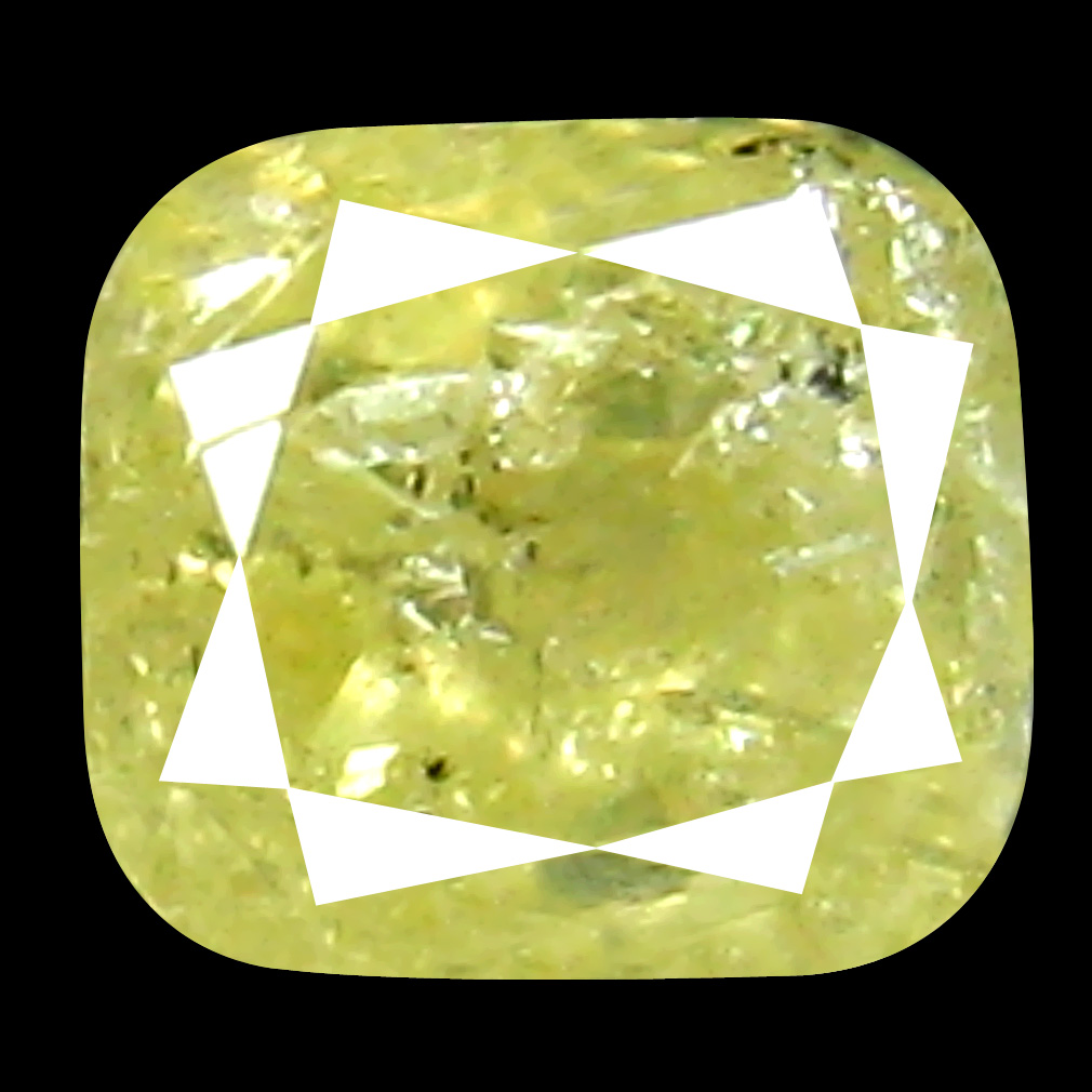 0.35 ct Resplendent Cushion Cut (4 x 3 mm) 100% Natural (Un-Heated) Fancy Yellow Diamond Natural Gemstone