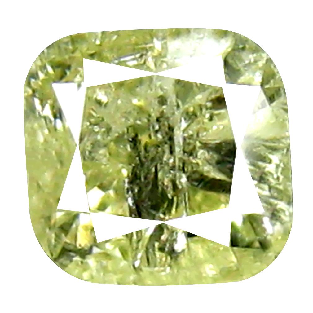 0.34 ct Exquisite Cushion Cut (4 x 4 mm) 100% Natural (Un-Heated) Fancy Yellow Diamond Natural Gemstone