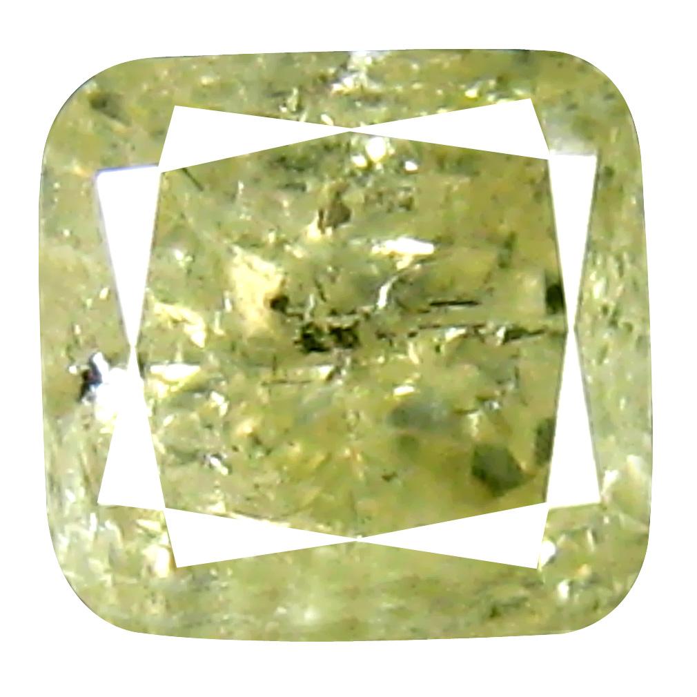 0.37 ct Flashing Cushion Cut (4 x 4 mm) 100% Natural (Un-Heated) Fancy Yellow Diamond Natural Gemstone