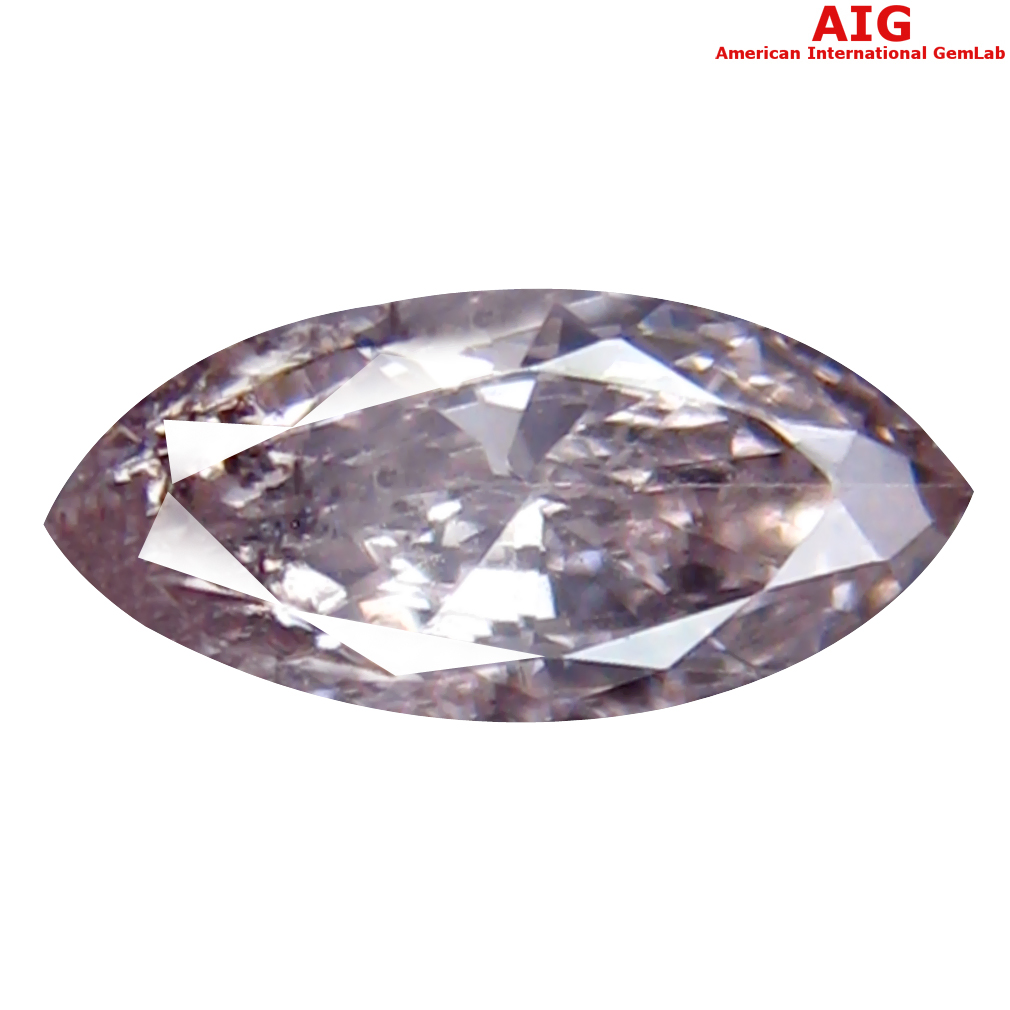 0.19 ct AIG CERTIFIED FLASHING I1 CLARITY MARQUISE CUT (6 X 3 MM) FANCY PINK DIAMOND STONE