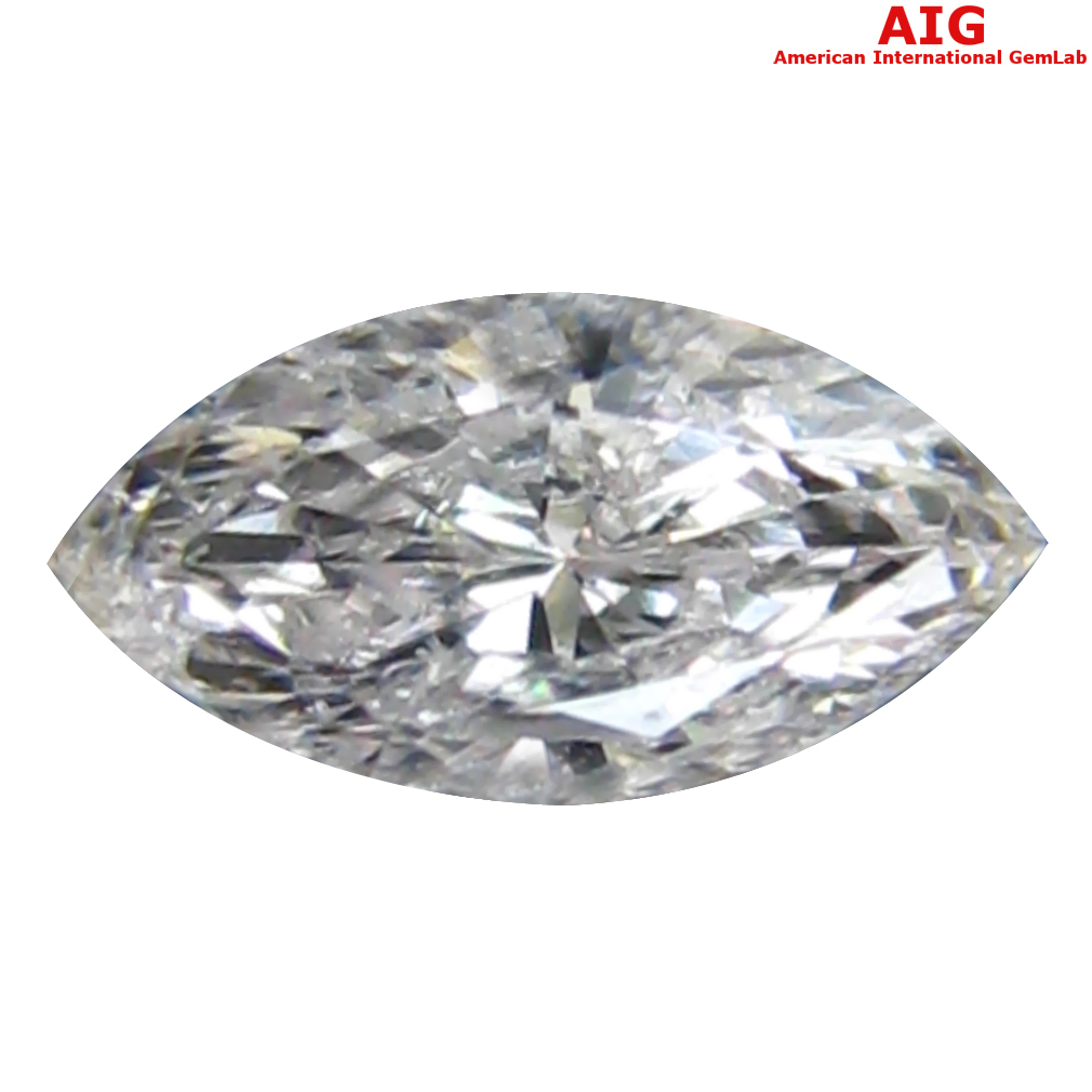 0.18 ct AIG CERTIFIED CHARMING I1 CLARITY MARQUISE CUT (6 X 3 MM) FANCY LIGHT PINK DIAMOND STONE
