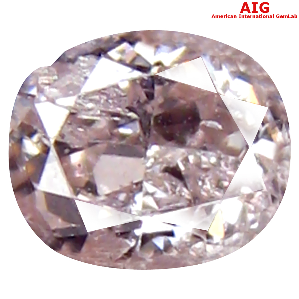 0.20 ct AIG CERTIFIED EXTRAORDINARY SI2 CLARITY OVAL CUT (4 X 3 MM) FANCY LIGHT PINK DIAMOND STONE