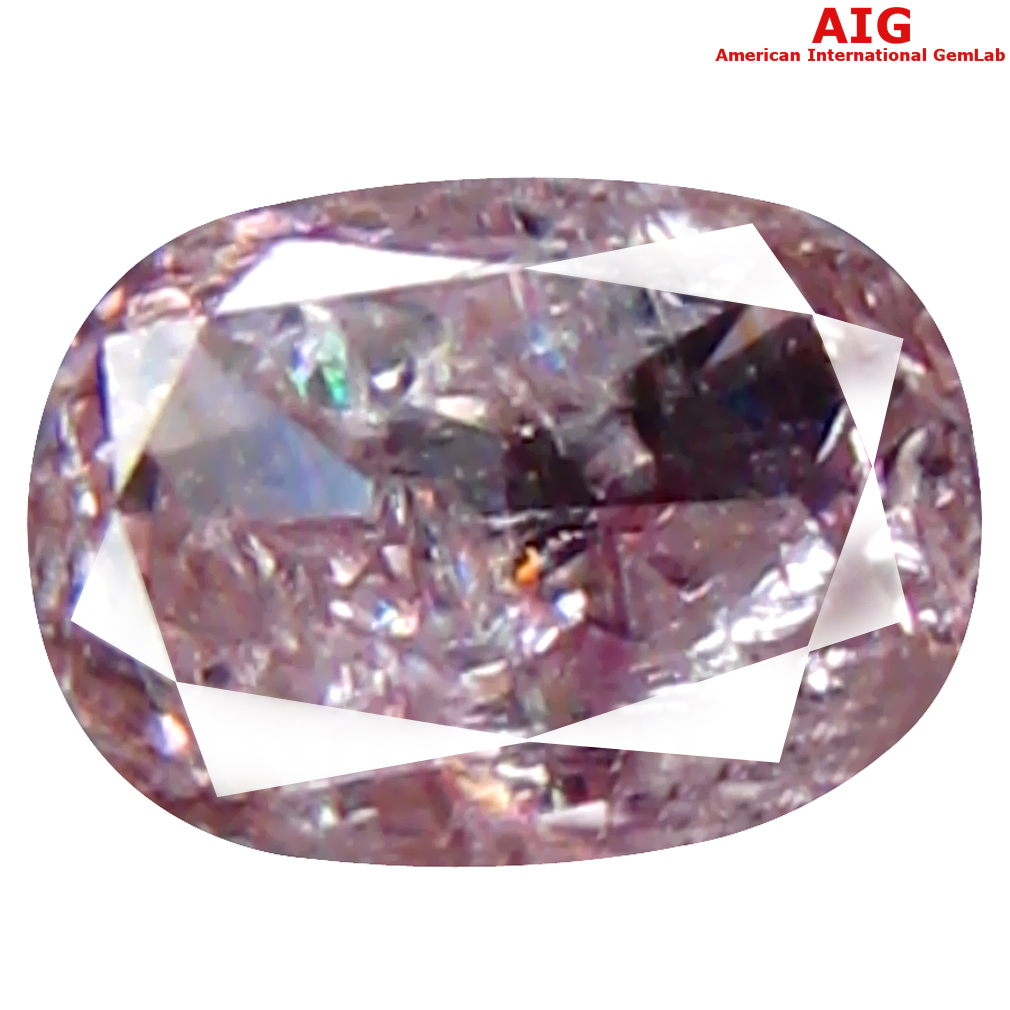 0.14 ct AIG CERTIFIED PLEASANT I1 CLARITY OVAL CUT (4 X 3 MM) FANCY BROWNISH PINK DIAMOND STONE