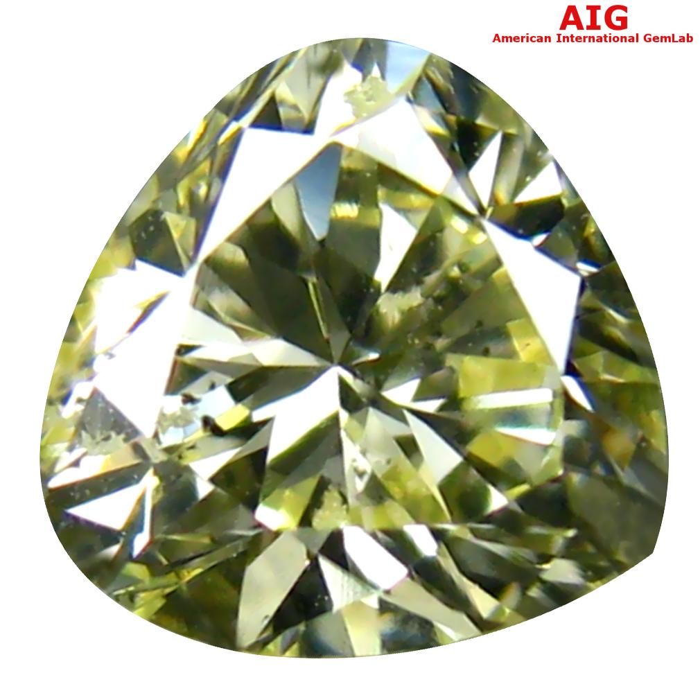 0.57 ct AIG CERTIFIED EXTRAORDINARY I1 CLARITY PEAR CUT (5 X 5 MM) FANCY YELLOW DIAMOND STONE