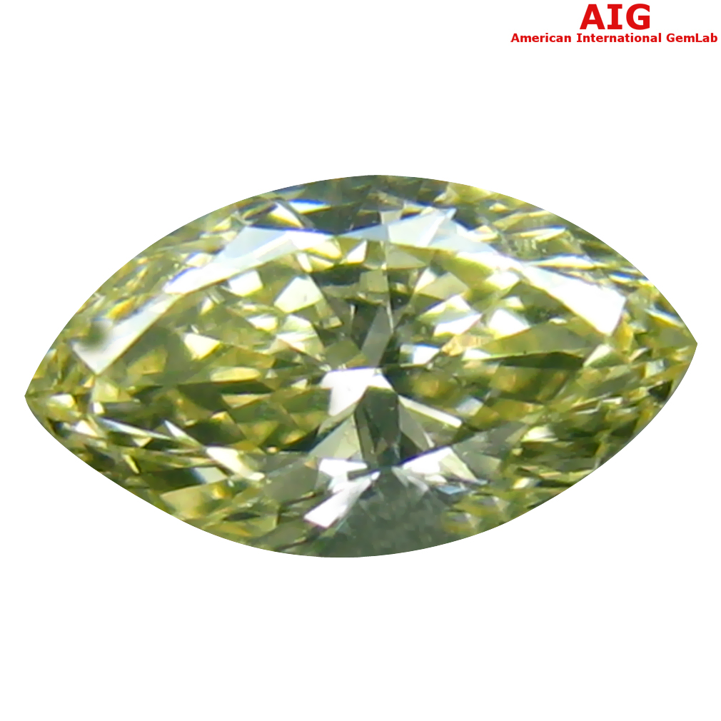 0.33 ct AIG CERTIFIED ELEGANT SI2 CLARITY MARQUISE CUT (6 X 4 MM) FANCY YELLOW DIAMOND STONE