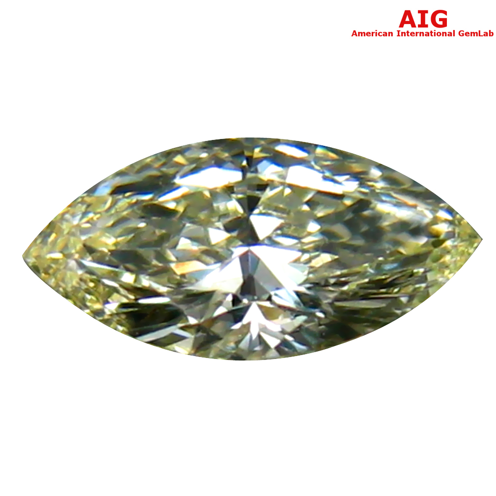 0.32 ct AIG CERTIFIED TOPNOTCH VVS2 CLARITY MARQUISE CUT (7 X 4 MM) FANCY YELLOW DIAMOND STONE