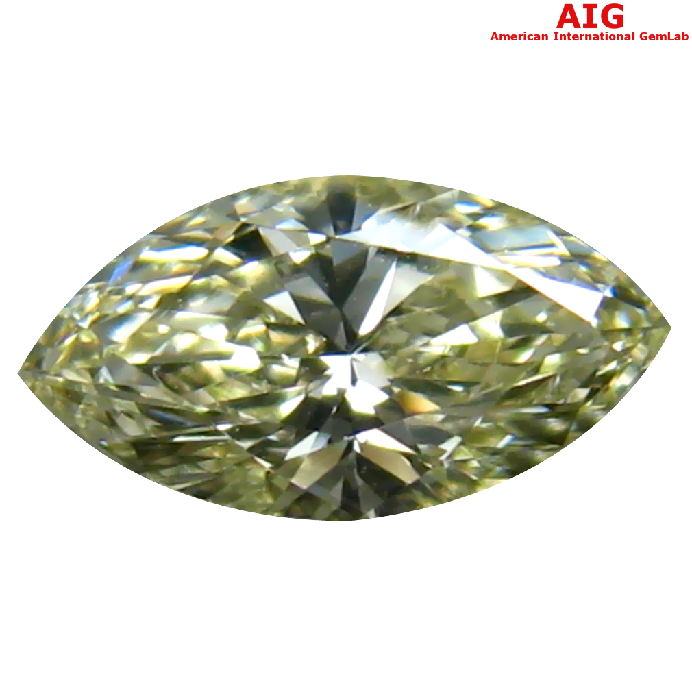 0.31 ct AIG CERTIFIED VALUABLE VS1 CLARITY MARQUISE CUT (7 X 4 MM) FANCY YELLOW DIAMOND STONE