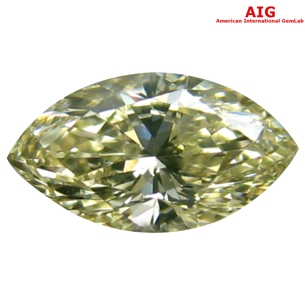 0.30 ct AIG CERTIFIED GRAND LOOKING VS2 CLARITY MARQUISE CUT (6 X 4 MM) FANCY YELLOW DIAMOND STONE