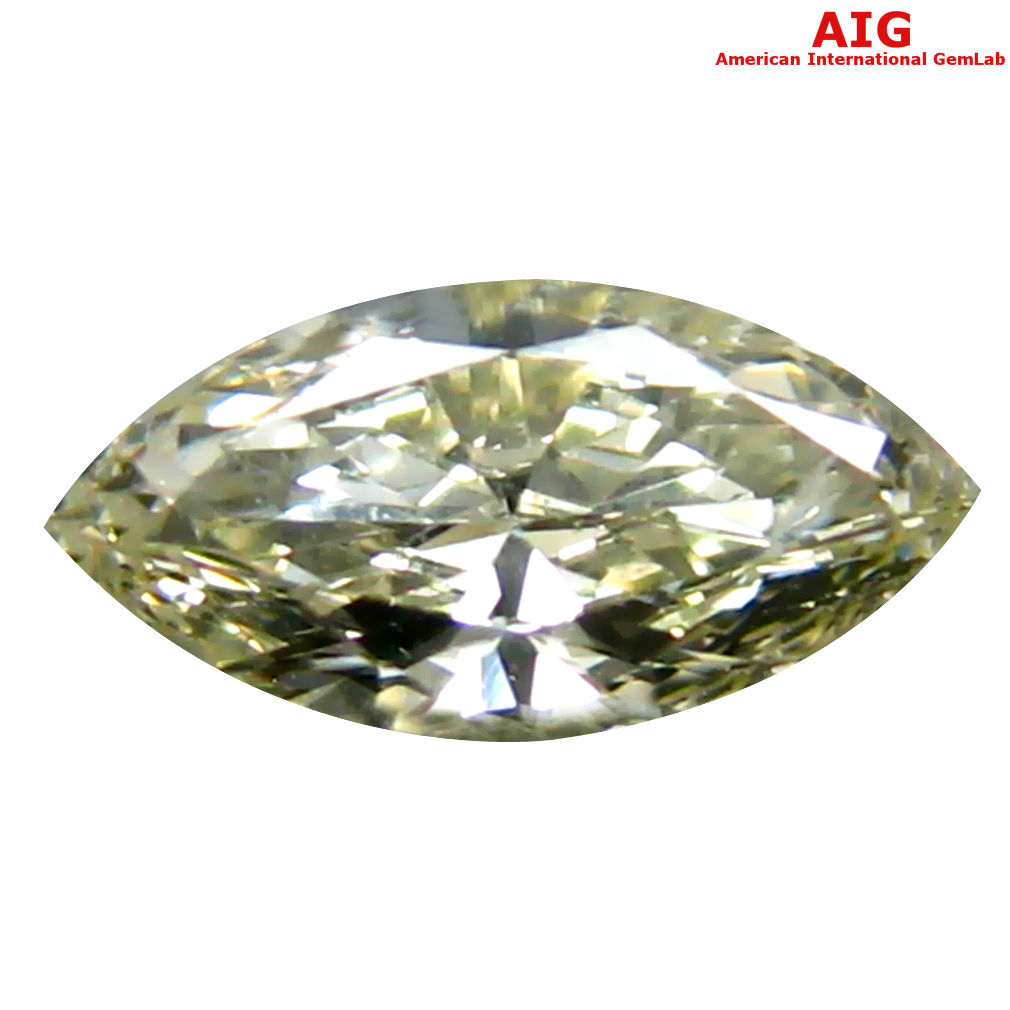 0.23 ct AIG CERTIFIED BEAUTIFUL VS2 CLARITY MARQUISE CUT (7 X 3 MM) FANCY YELLOW DIAMOND STONE
