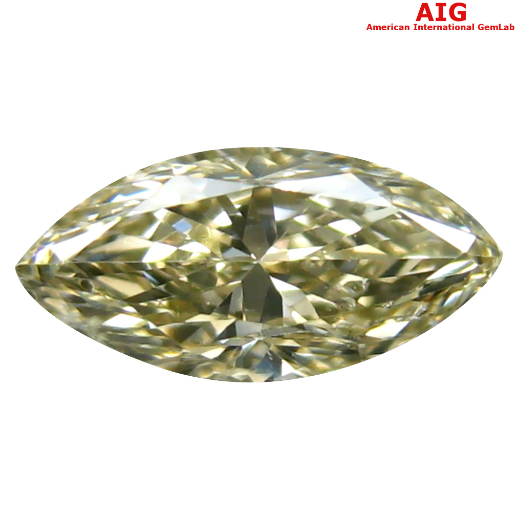 0.43 ct AIG CERTIFIED RESPLENDENT SI2 CLARITY MARQUISE CUT (7 X 4 MM) FANCY YELLOW DIAMOND STONE